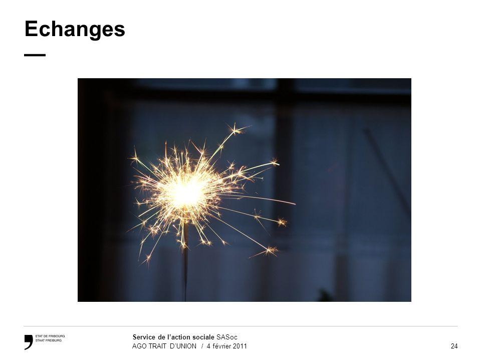 Echanges —