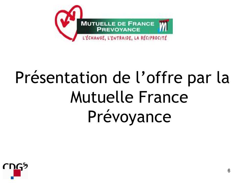 Présentation de l'offre par la Mutuelle France Prévoyance