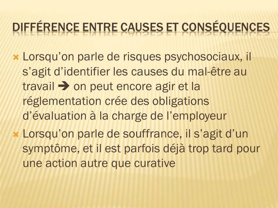 Différence entre causes et conséquences