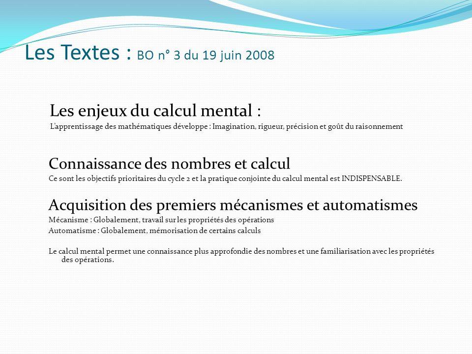 Les Textes : BO n° 3 du 19 juin 2008