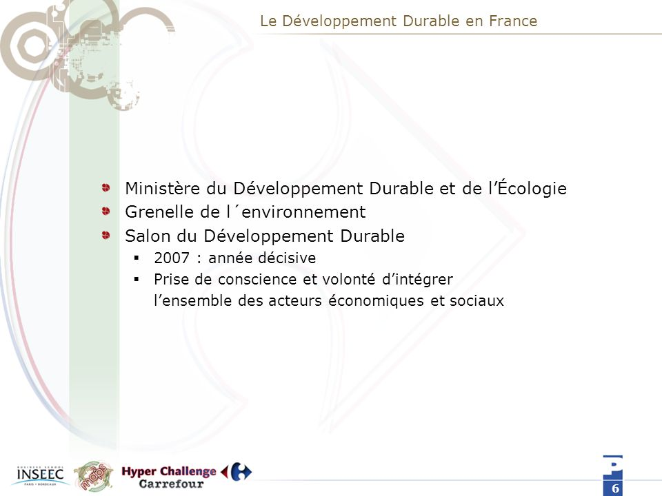 Le Développement Durable en France