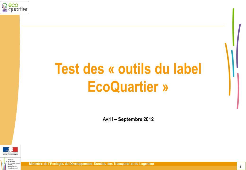 Test des « outils du label EcoQuartier »