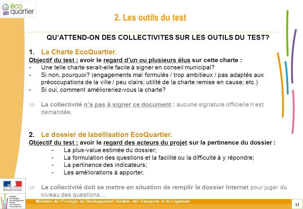 QU'ATTEND-ON DES COLLECTIVITES SUR LES OUTILS DU TEST