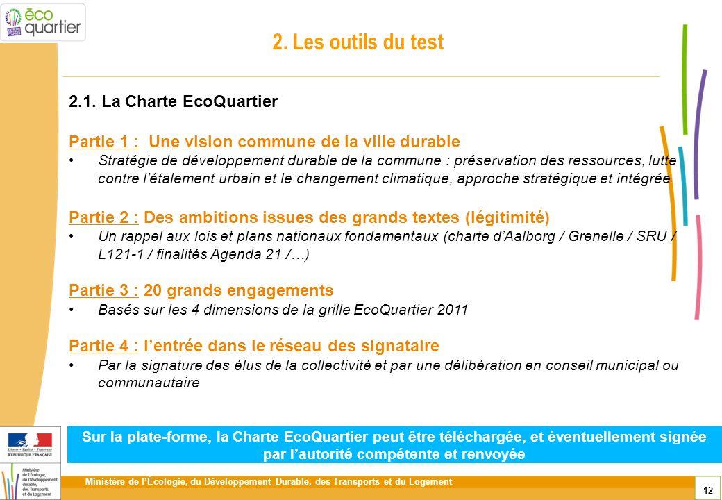 2. Les outils du test 2.1. La Charte EcoQuartier