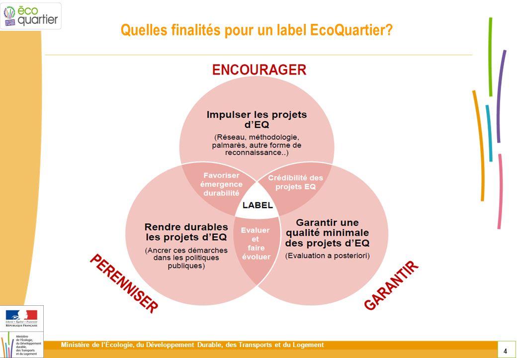 Quelles finalités pour un label EcoQuartier