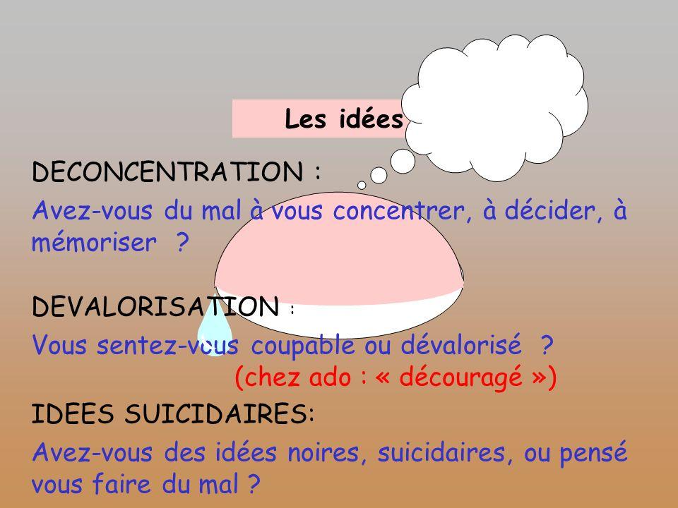 Les idées DECONCENTRATION  Avez,vous du mal à vous concentrer, à décider,