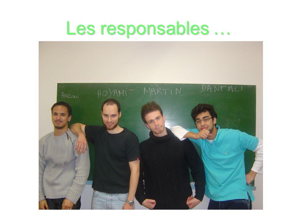 Les responsables …