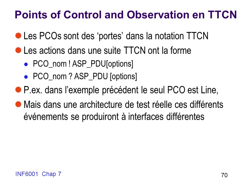 Points of Control and Observation en TTCN