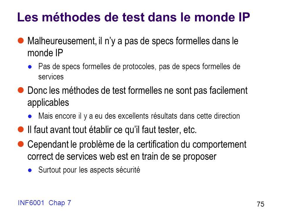 Les méthodes de test dans le monde IP