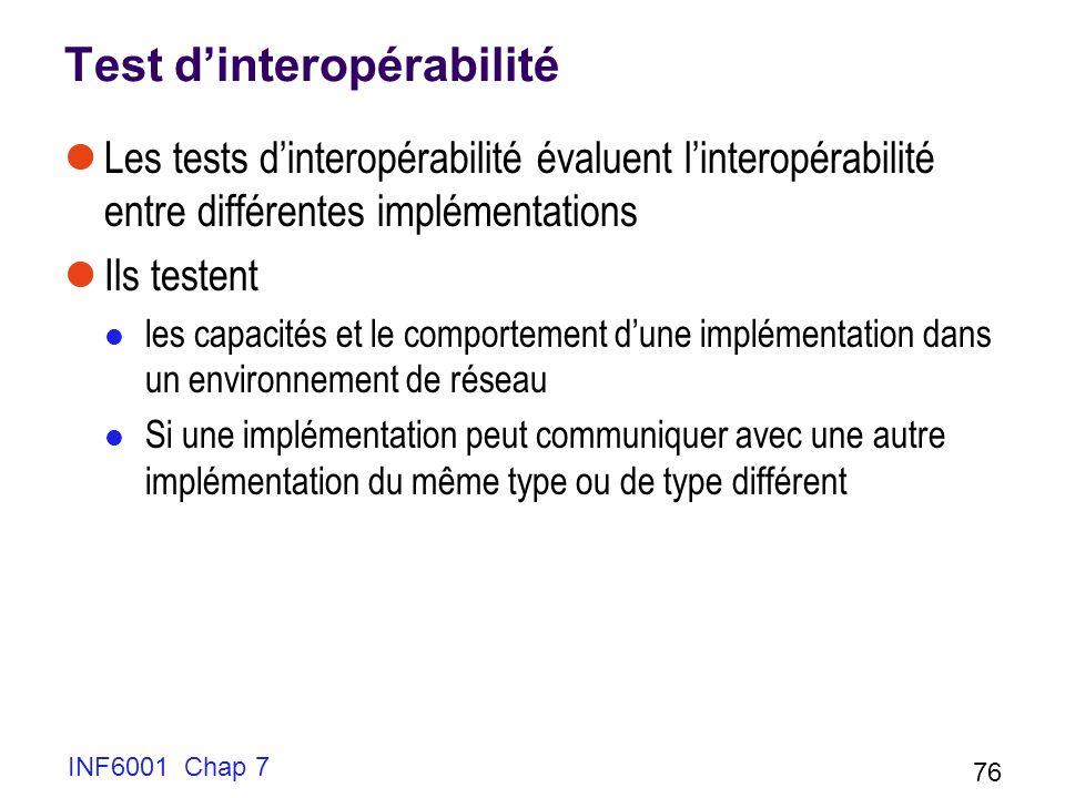 Test d'interopérabilité