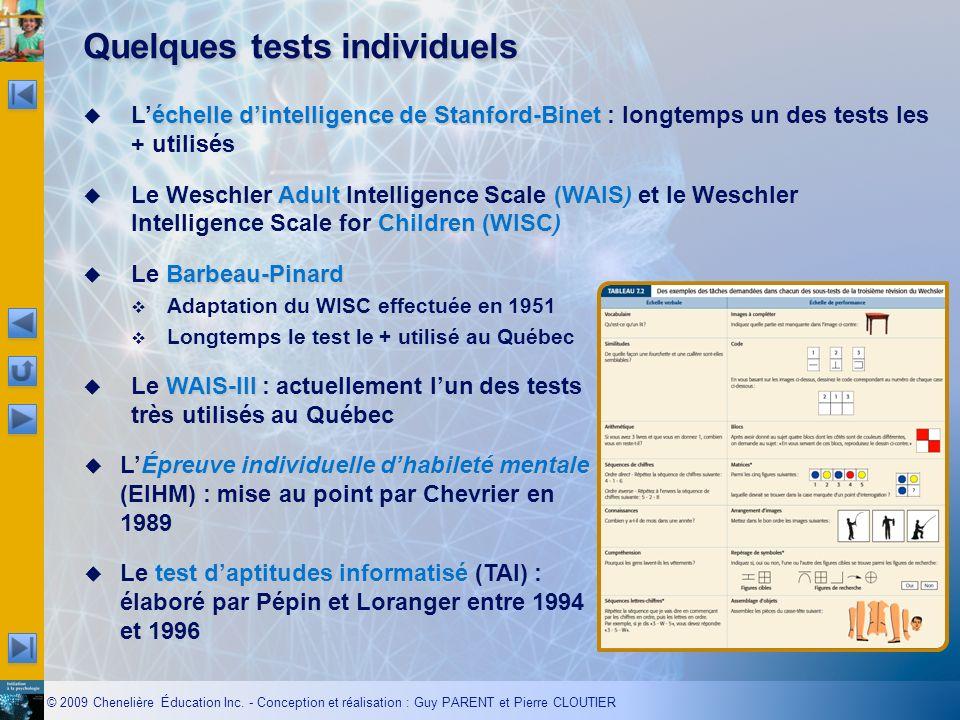 Quelques tests individuels