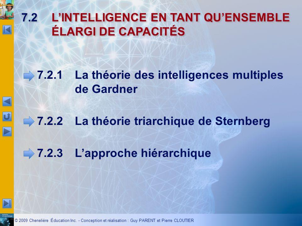 7.2 L'INTELLIGENCE EN TANT QU'ENSEMBLE ÉLARGI DE CAPACITÉS