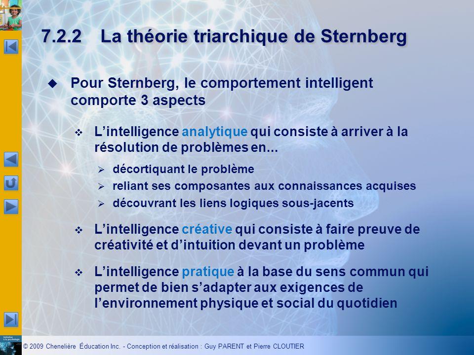 7.2.2 La théorie triarchique de Sternberg
