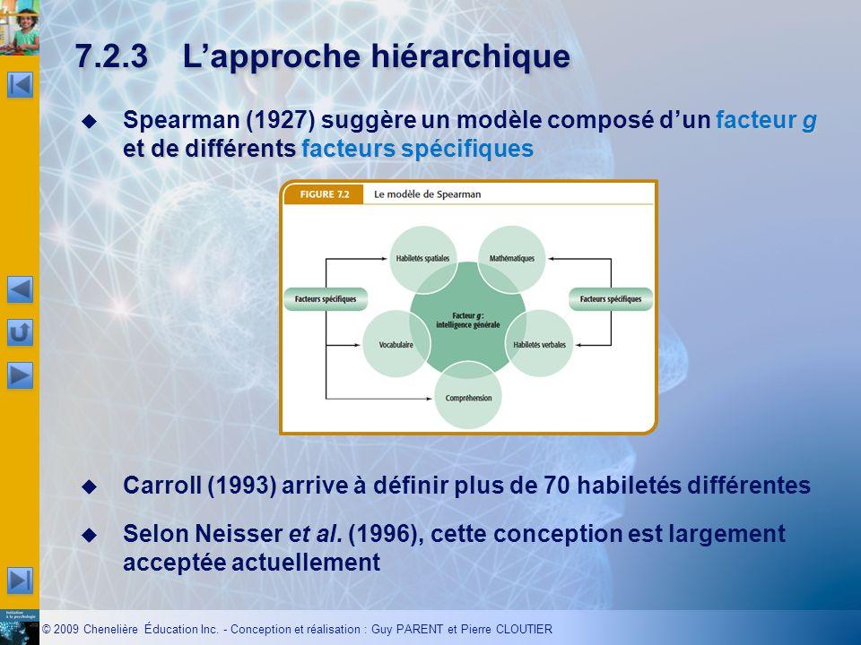 7.2.3 L'approche hiérarchique