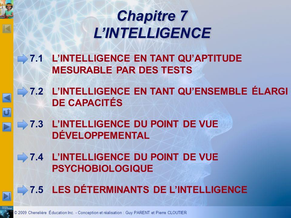 Chapitre 7 L'INTELLIGENCE