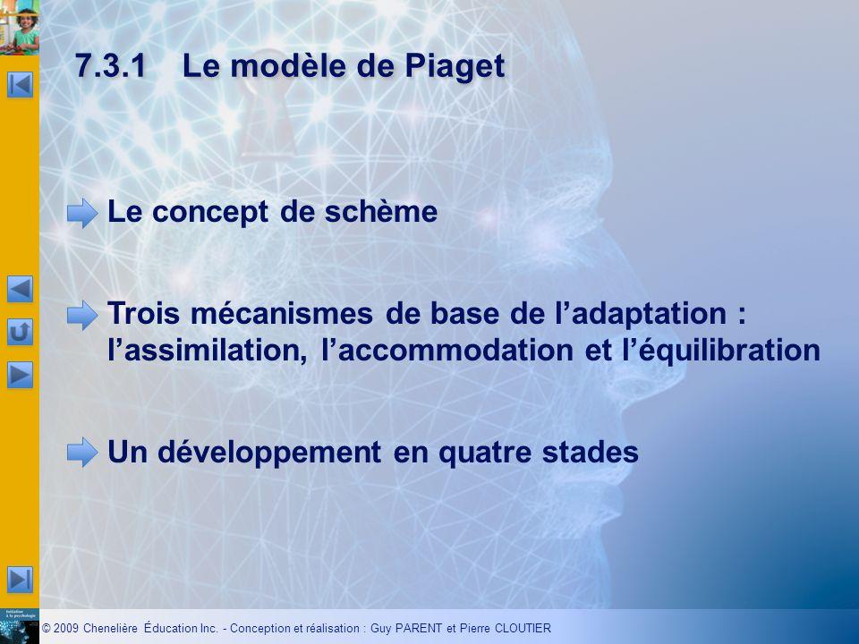 7.3.1 Le modèle de Piaget