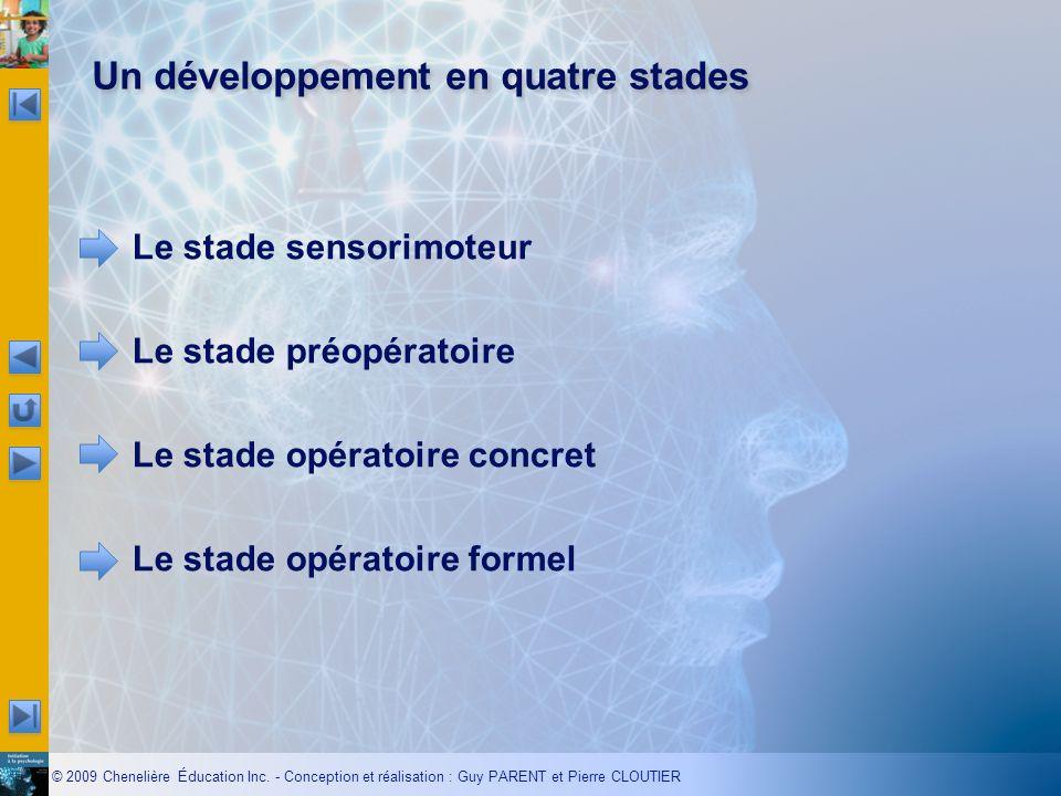 Un développement en quatre stades