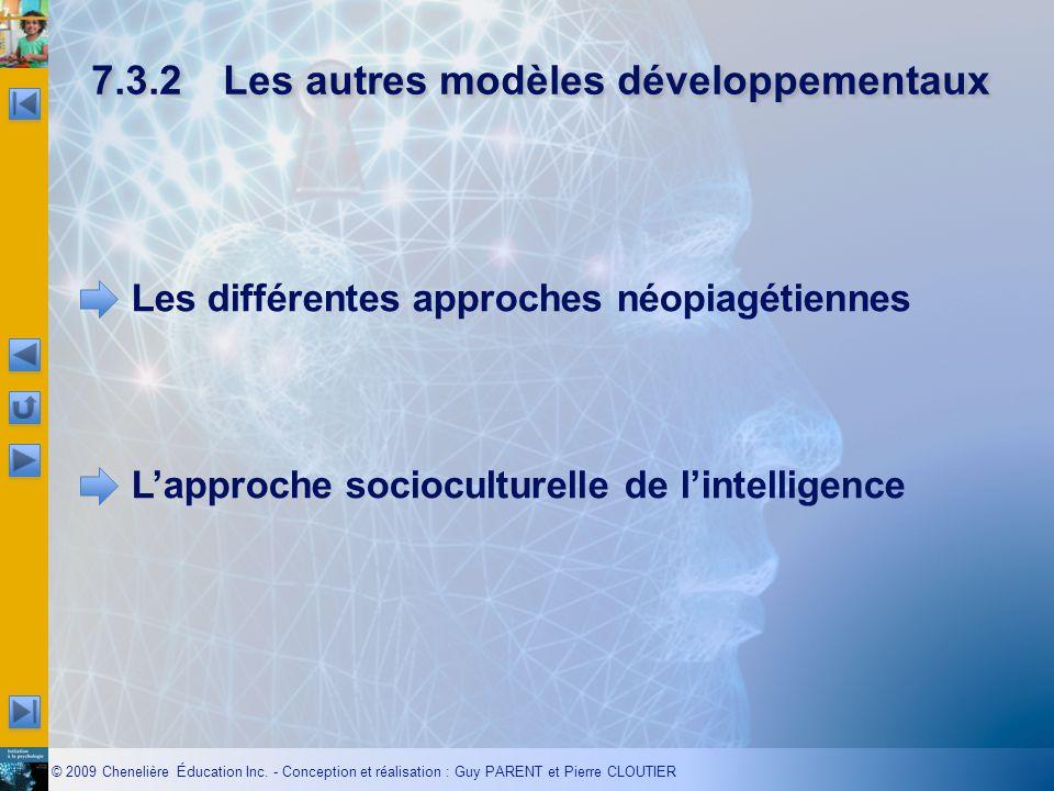 7.3.2 Les autres modèles développementaux