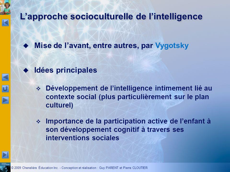 L'approche socioculturelle de l'intelligence