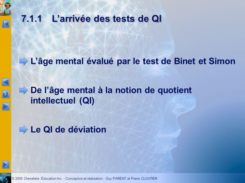 7.1.1 L'arrivée des tests de QI