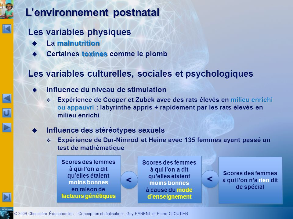 L'environnement postnatal