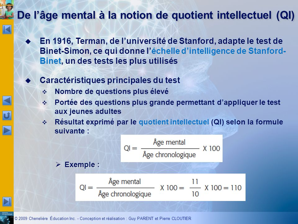 De l'âge mental à la notion de quotient intellectuel (QI)