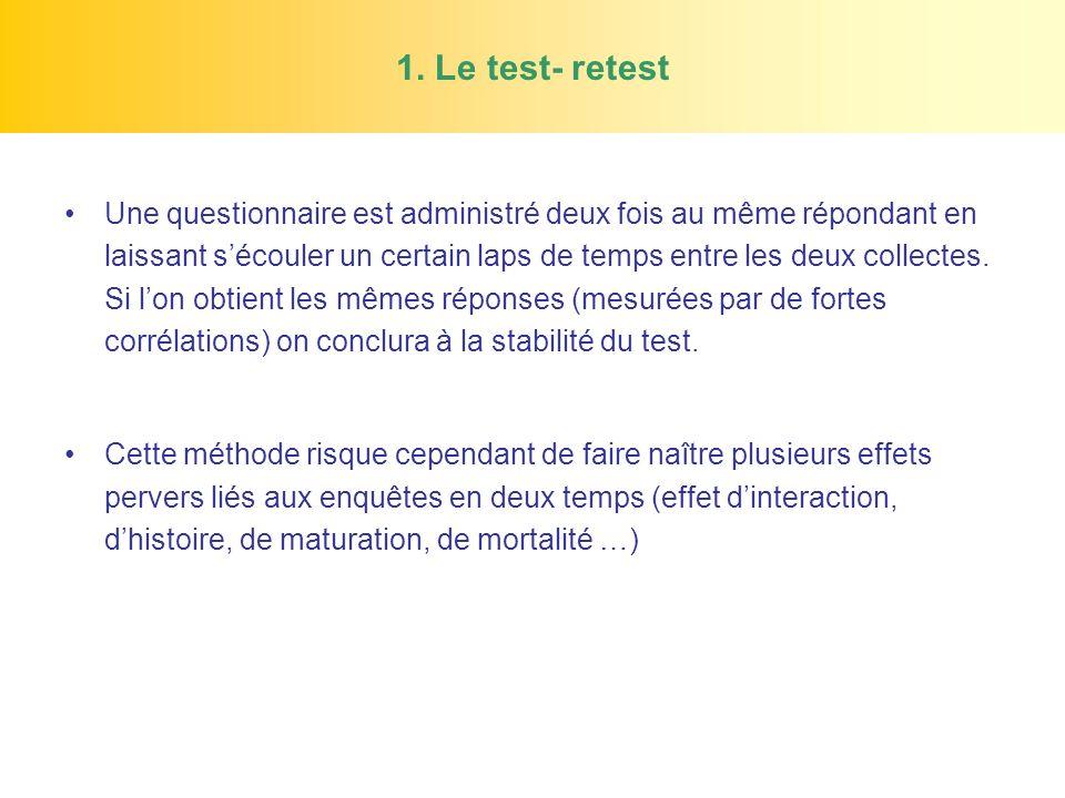 1. Le test- retest