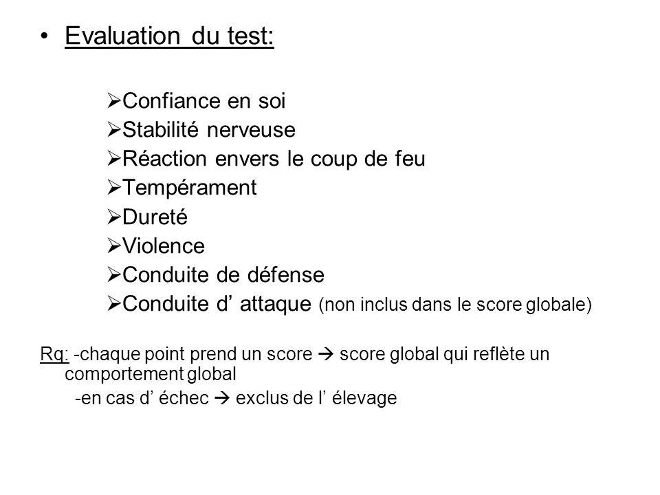 Evaluation du test: Confiance en soi Stabilité nerveuse