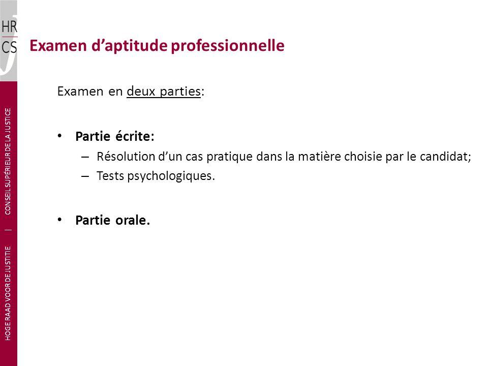 Examen d'aptitude professionnelle