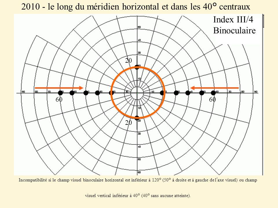 2010 - le long du méridien horizontal et dans les 40° centraux