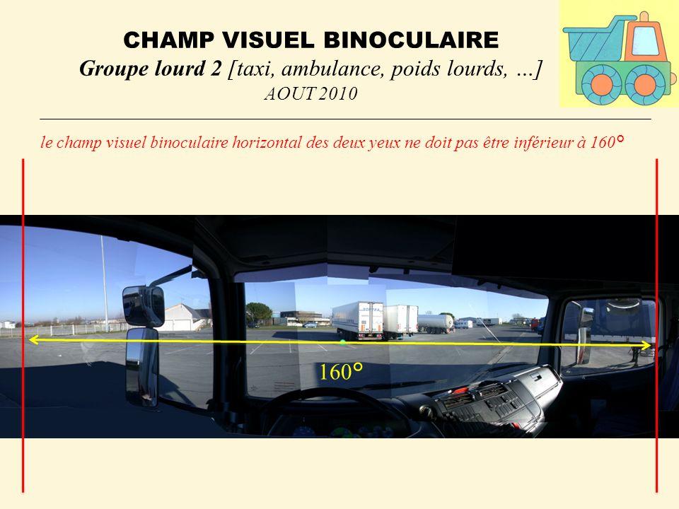 CHAMP VISUEL BINOCULAIRE