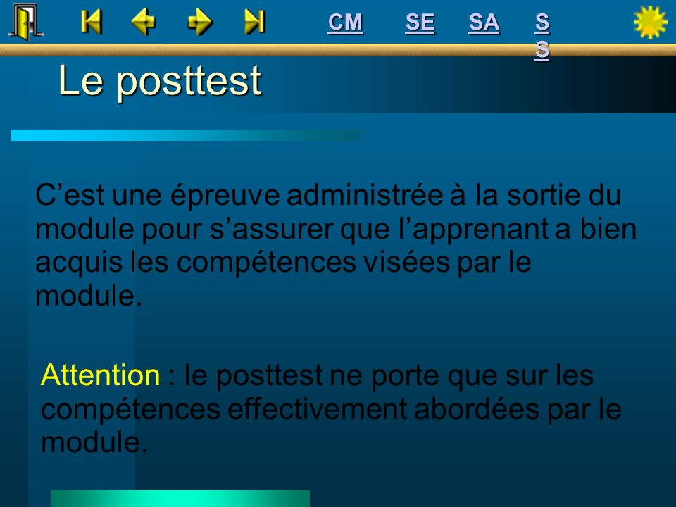 CM SE. SA. S S. Le posttest.