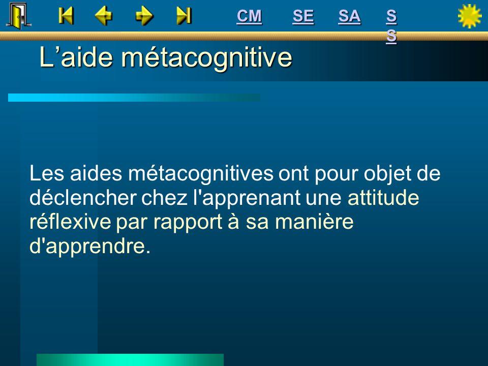 CM SE. SA. S S. L'aide métacognitive.