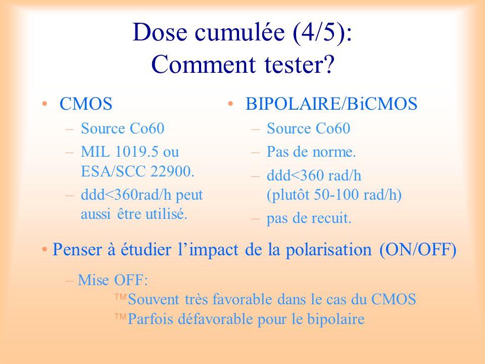 Dose cumulée (4/5): Comment tester