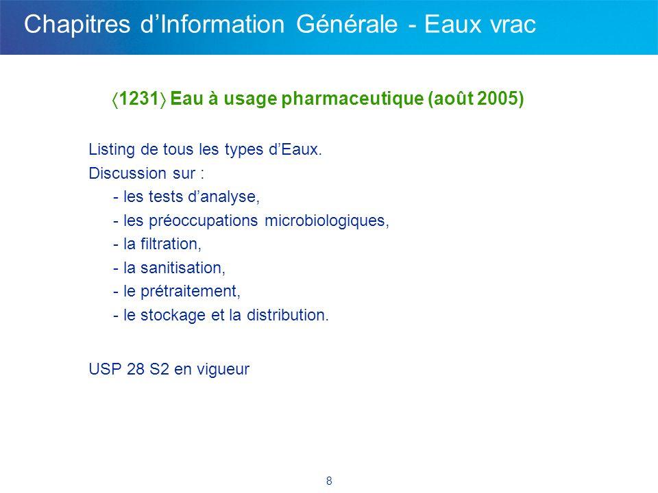 Pharmaceutique - 2 nouveaux chapitres de l'USP