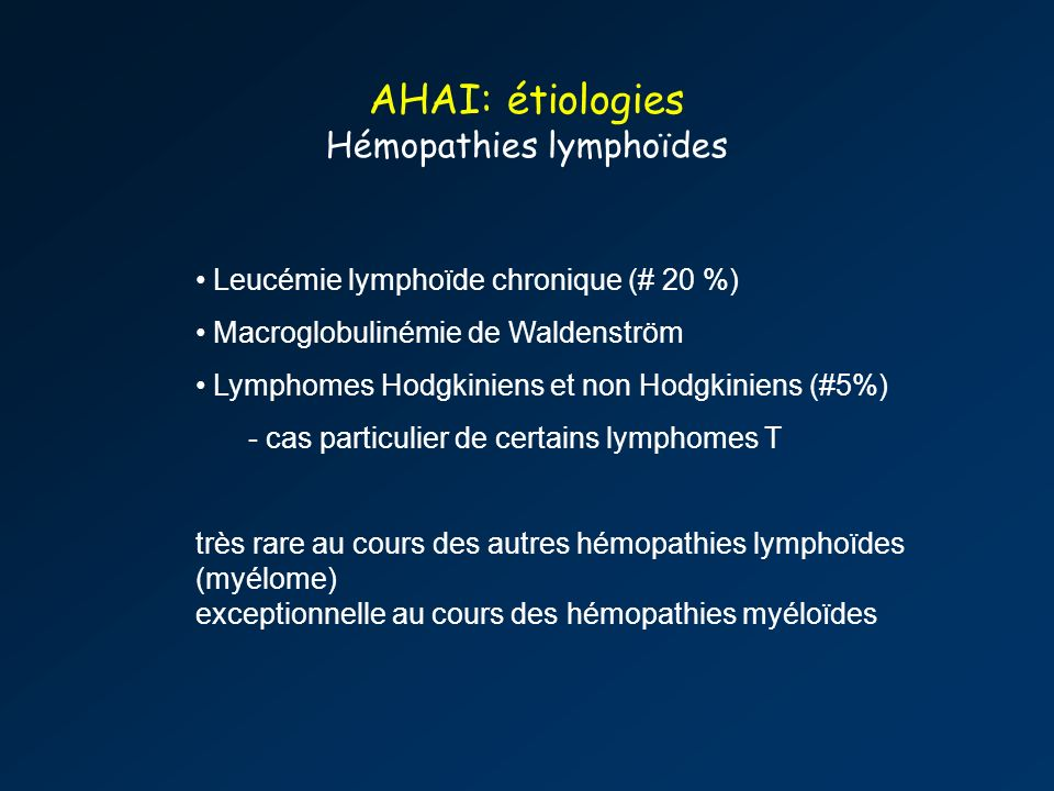 Hémopathies lymphoïdes