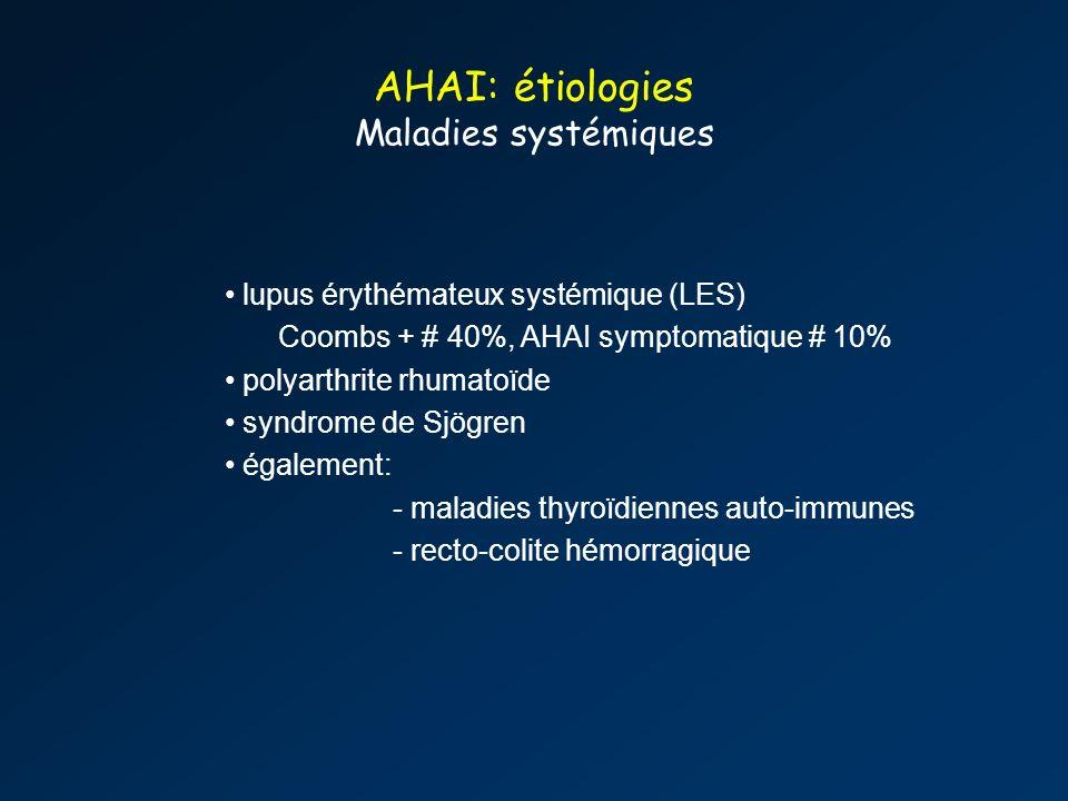 AHAI: étiologies Maladies systémiques