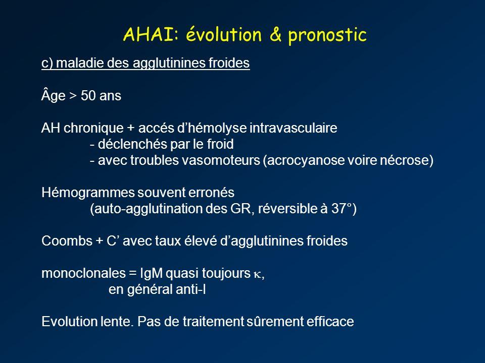 AHAI: évolution & pronostic