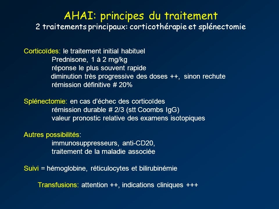 AHAI: principes du traitement