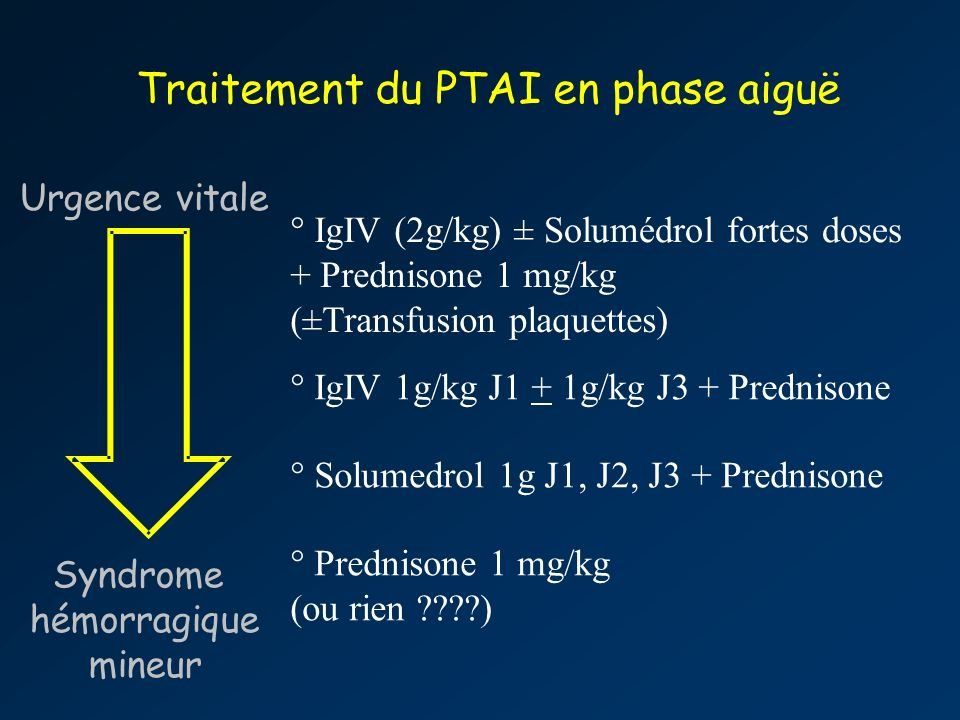 Traitement du PTAI en phase aiguë