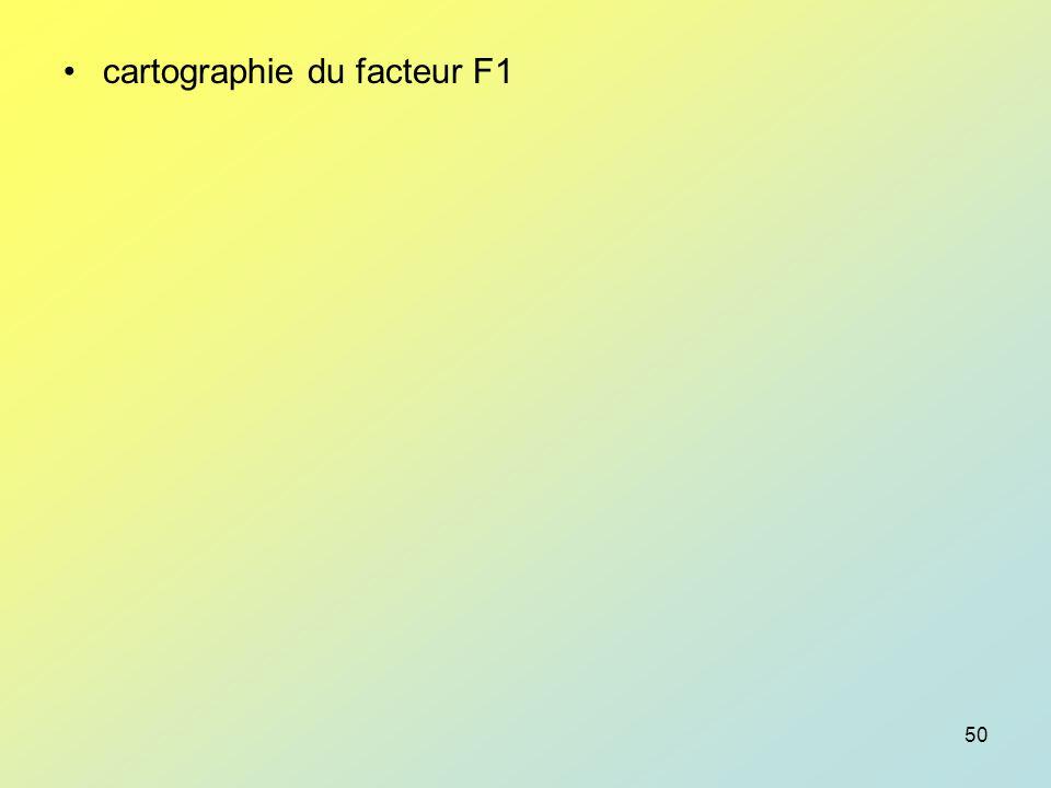 cartographie du facteur F1