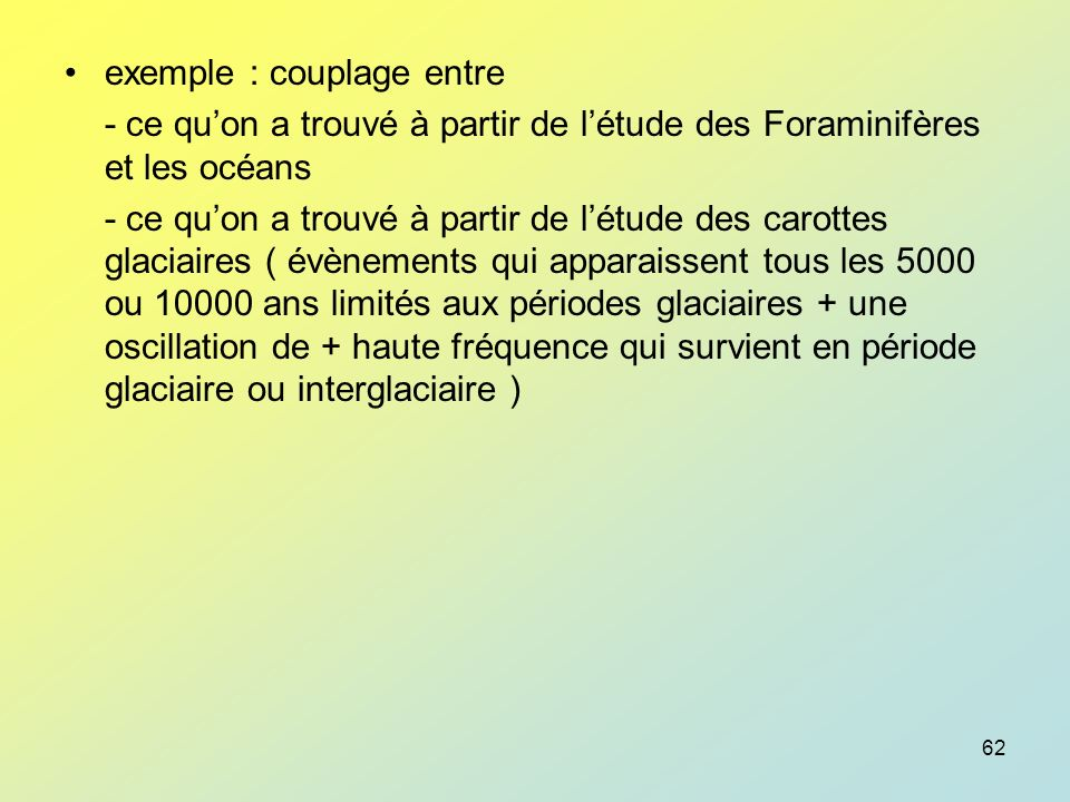 exemple : couplage entre