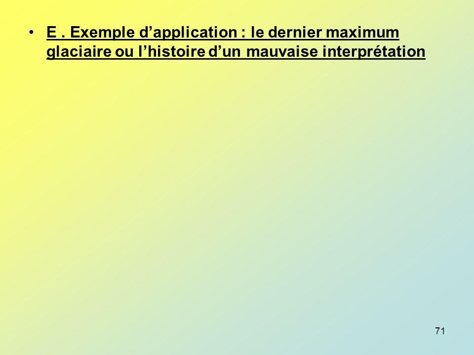 E . Exemple d'application : le dernier maximum glaciaire ou l'histoire d'un mauvaise interprétation