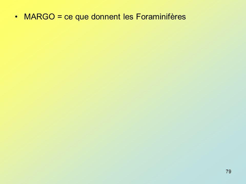 MARGO = ce que donnent les Foraminifères