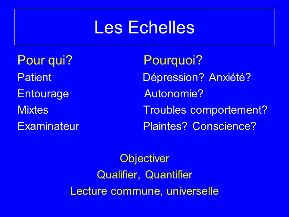 Lecture commune, universelle