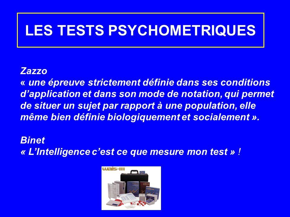 LES TESTS PSYCHOMETRIQUES