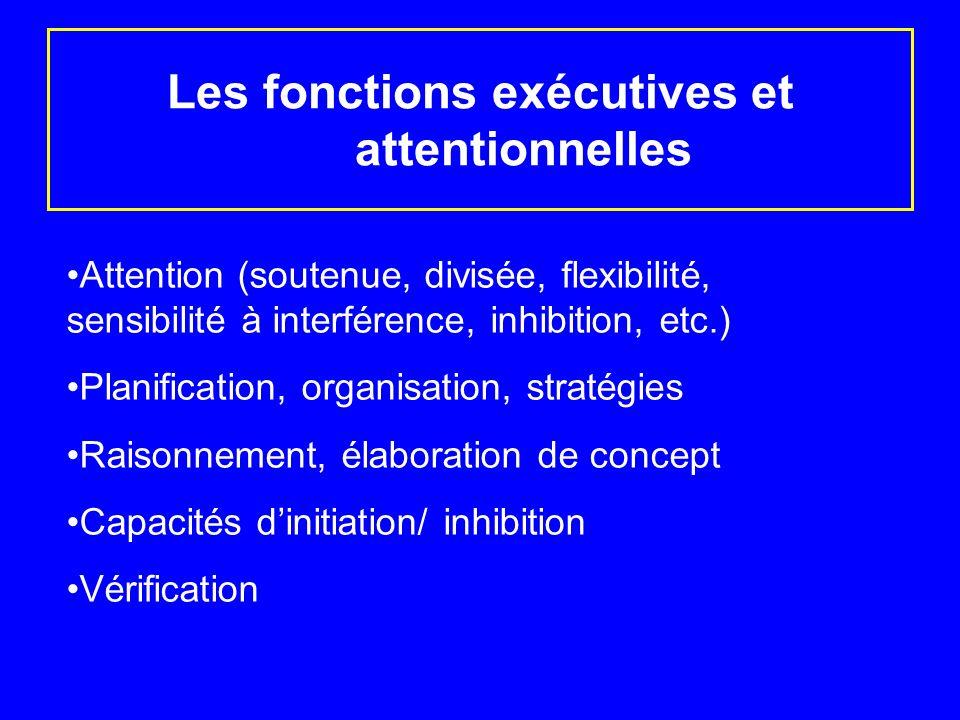 Les fonctions exécutives et attentionnelles