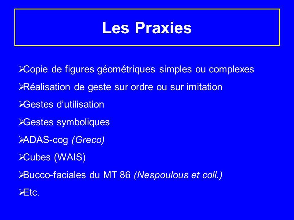Les Praxies Copie de figures géométriques simples ou complexes