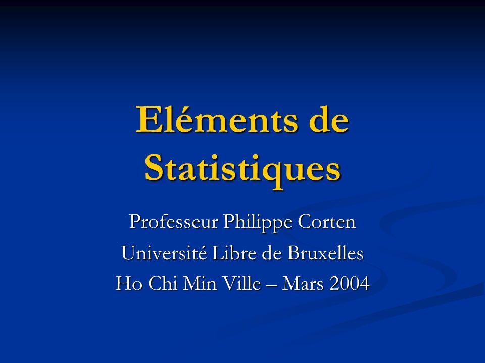Eléments de Statistiques