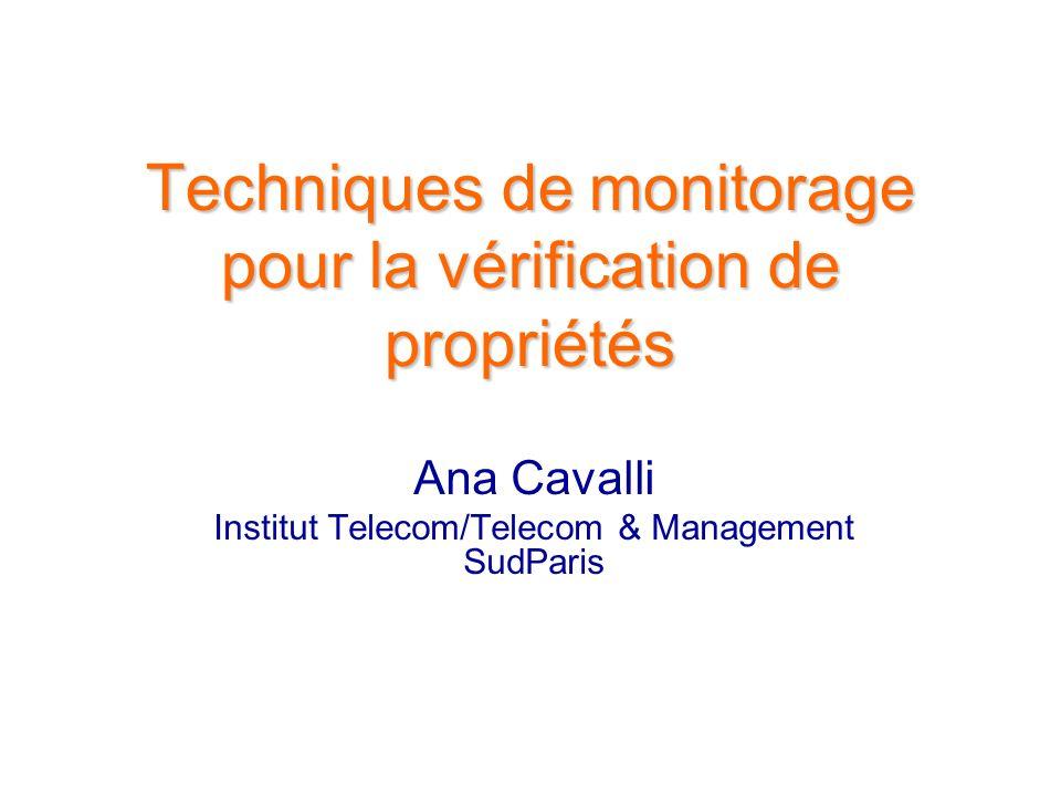 Techniques de monitorage pour la vérification de propriétés